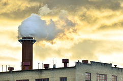 Chimney pollution Royalty Free Stock Images