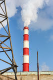 Chimney power plant against Stock Photography