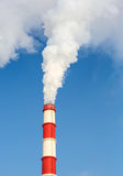 Chimney power plant against Stock Images