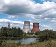 Chimney power plant Royalty Free Stock Photos