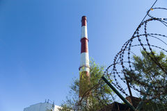 Chimney power plant Stock Images