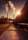 Chimney of power station Stock Photo