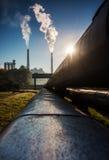 Chimney of power station Royalty Free Stock Image