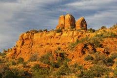 Chimney Red Rock Desert Landscape Sedona Arizona Sunset Stock Image