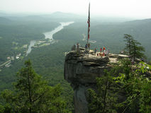 Chimney Rock. Monument in the mountains of North Carolina stock photos