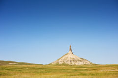 Chimney Rock. A national landmark called Chmney Rock in Nebraska, USA along the historic Oregon Trail Royalty Free Stock Photos
