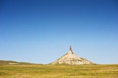 Chimney Rock. A national landmark called Chmney Rock in Nebraska, USA along the historic Oregon Trail royalty free stock photos