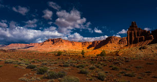 Chimney Rock Capitol Reef Panorama Royalty Free Stock Images