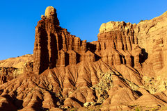 Chimney Rock. This image is of Chimney Rock in Capitol Reef National Park.  The photograph was taken just before sunset Stock Photography