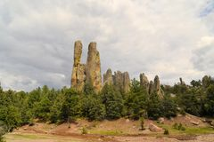 Chimney rock monoliths in Valley of the Monks Stock Photo