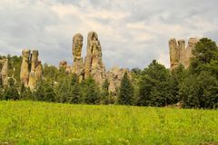 Chimney rock monoliths in Valley of the Monks Stock Photography