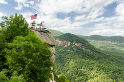 Chimney Rock mountain State Park Stock Photo