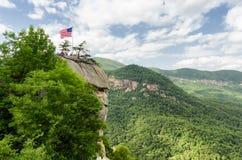 Chimney Rock mountain State Park Stock Photo