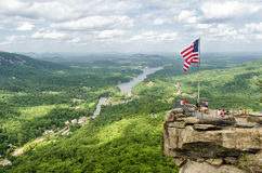 Chimney Rock mountain State Park Stock Photos