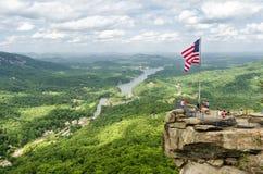 Chimney Rock mountain State Park Stock Photos