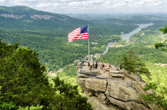 Chimney Rock mountain State Park Royalty Free Stock Photos