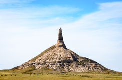 Chimney Rock National Historic Site. Butte Royalty Free Stock Image