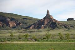 Chimney Rock National Historic Site. Chimney Rock in western Nebraska was an important landmark along the historic Oregon Trail Stock Photo