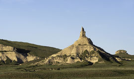 Chimney Rock Nebraska. Chimney Rock National Historic Site is a Landmark located in western Nebraska Royalty Free Stock Photography
