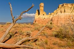 Chimney Rock, New Mexico rock formation Stock Photo
