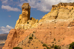 Chimney Rock, New Mexico rock formation Stock Images