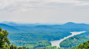 Chimney rock park and lake lure scenery Stock Photo