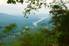 CHimney Rock Park View of Lake Lure Royalty Free Stock Photography