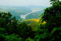 CHimney Rock Park View of Lake Lure Stock Images