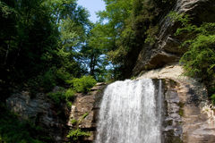 CHimney Rock Park waterfall Royalty Free Stock Photo