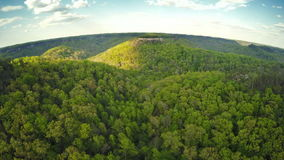 Chimney rock in Red River gorge stock video