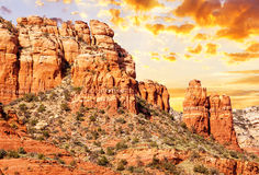 Chimney rock in Red Rock Stock Photo