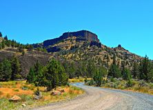 Chimney Rock View. View from Chimney Rock Campground in the Crooked River Canyon south of Prineville, OR royalty free stock images