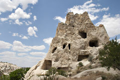 Chimney rocks. View of Chimney rocks in Cappadocia. Nevsehir, Turkey Royalty Free Stock Image