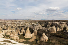Chimney rocks in valley, Cappadocia, Turkey Royalty Free Stock Image