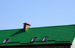 Chimney and roof Stock Photography
