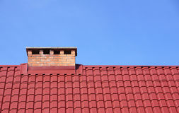 Chimney and roof Stock Photos