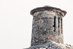 Chimney On The Roof Of The Old Church Stock Photography