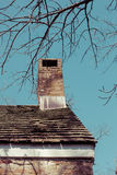 Chimney and Roof on Old House Royalty Free Stock Photos