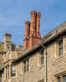 Chimney on the roof of old house Royalty Free Stock Image