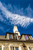 Chimney on the roof of old house Stock Photo