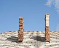 Chimney on the roof Royalty Free Stock Photography