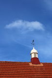 Chimney 3. Chimney on a rooftop with a wind vane Royalty Free Stock Photos