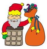 Chimney Santa Stock Photos