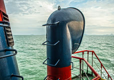 Chimney of sea ship Stock Photography