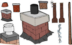 Chimney Set Stock Photo