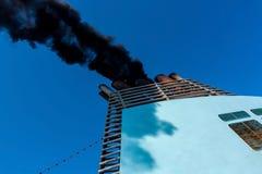 Chimney of the ship Stock Photo