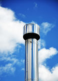 Chimney and sky. Steel chimney on a background of sky with Royalty Free Stock Images