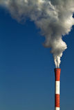Chimney smoke Stock Images