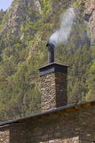 Chimney with smoke Stock Photo