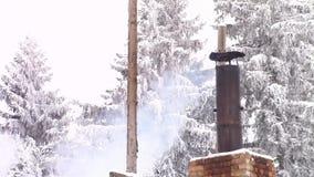Chimney smoke stock video